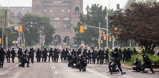 Zamieszki zbliżają G20, Czerwiec 26, 2010 - Toronto, Kanada Zdjęcie Royalty Free
