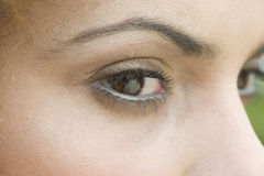 zamknąć oczy w górę kobiety Fotografia Stock