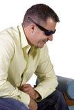zamknięci samiec modela okulary przeciwsłoneczne zamknięty Zdjęcia Royalty Free