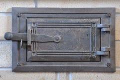 Zamknięci stalowi pów drzwi Obrazy Royalty Free