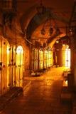 Zamknięci Targowi kramy w Jerozolimskim Starym miasto rynku, Izrael obraz royalty free