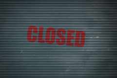 Zamknięta Żaluzja zdjęcia stock