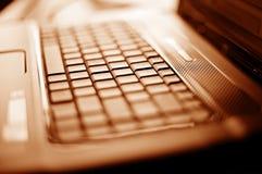 zamknięta dof laptopu płycizna zamknięty Zdjęcia Royalty Free