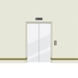 Zamknięta drzwi winda ilustracja wektor