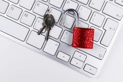 Zamknięta komputerowa skrytka od wirusa lub malware ataka Laptop ochrania od onlinego cyber przestępstwa, siekać i Komputer Fotografia Royalty Free