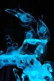 zamknięta lodowa dźwigarek sztuka rzeźba lodowy Zdjęcie Royalty Free