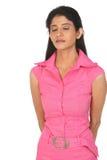 zamknięta oczu hindusa kobieta Zdjęcia Royalty Free