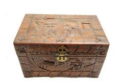 Zamknięta Ozdobna ręka Rzeźbiący azjata pudełko Fotografia Stock