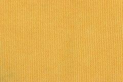 Zamknięta tekstura żółty płótno Fotografia Stock