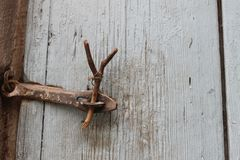 zamknięte drzwi Kąpielowy sąsiad Denau zdjęcie stock