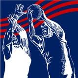 zamknięte gracza koszykówki ilustracja wektor
