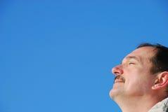 zamknięte oczy człowieku Zdjęcie Royalty Free