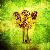 zamkniętego elfa czarodziejscy liść metal motyw czarodziejski Fotografia Royalty Free