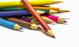 zamkniętego koloru różni ołówki różny Zdjęcie Stock