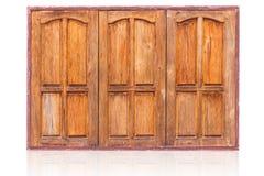 Zamkniętego rzędu azjata drewniany nadokienny styl Fotografia Stock