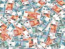 zamkniętego waluty przodu nowy rosjanin w górę widok Zdjęcia Royalty Free