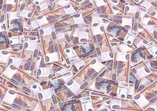 zamkniętego waluty przodu nowy rosjanin w górę widok Fotografia Royalty Free