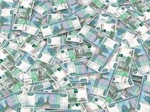 zamkniętego waluty przodu nowy rosjanin w górę widok Zdjęcie Royalty Free