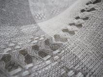 zamkniętej tkaniny bieliźniana makro- tekstura makro- Obrazy Royalty Free
