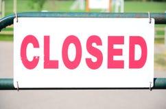 Zamknięty! Zdjęcie Royalty Free