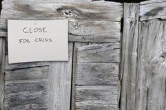 zamknięty biznesu kryzys Zdjęcia Royalty Free