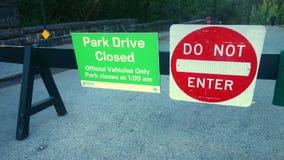 Zamknięty central park Fotografia Royalty Free