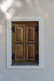 Zamknięty drewniany okno Zdjęcie Royalty Free