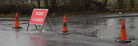 zamknięty drogowy znak Zdjęcie Stock