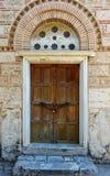 Zamknięty drzwi historyczny budynek fotografia royalty free