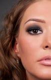 zamknięty eleganci splendoru portret w górę kobiety Obraz Royalty Free