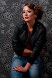 zamknięty eleganci splendoru portret w górę kobiety Obrazy Stock