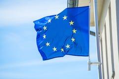 zamknięty eu zamknięta flaga Zdjęcie Royalty Free