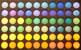 zamknięty eyeshadows zamknięta paleta Zdjęcie Stock