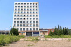 Zamknięty fabryczny Sibvolokno Zelenogorsk Fotografia Stock