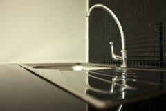 zamknięty faucet zamknięty zlew Obraz Royalty Free