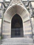 Zamknięty gothic kościelny drzwi zdjęcie stock