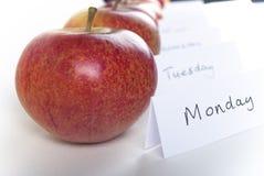 zamknięty jabłko dzień Zdjęcia Stock
