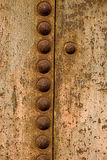 zamknięty metal rdzewiał zbiornika zamknięty Fotografia Royalty Free