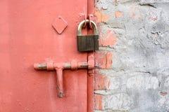 Zamknięty metalu drzwi fotografia stock