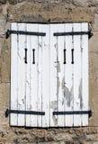 zamknięty nadokienny drewniany Fotografia Stock