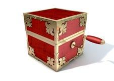 Zamknięty pudełko antyk ilustracji