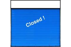 zamknięty sklep Obrazy Stock