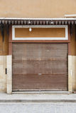 Zamknięty sklep Panwiowy drzwi Zdjęcia Royalty Free