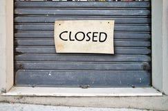 Zamknięty sklep, zamknięty przedsięwzięcie Fotografia Stock