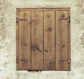zamknięty stary okno zdjęcie royalty free