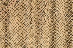 Zamknięty szczegół stary metalu ogrodzenie rdzewiał i brudzi Obrazy Stock