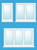 zamknięty szklany ilustracyjny plastikowy okno ilustracja wektor