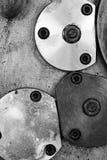 Zamknięty talerz na starej tokarskiej maszynie zdjęcie stock