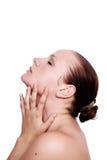 zamknięty twarzy piękna zamknięta kobieta Obrazy Stock