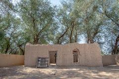 Zamknięty widok Al Dahiri dom w Al Qattara oazie, Al Ain fotografia stock